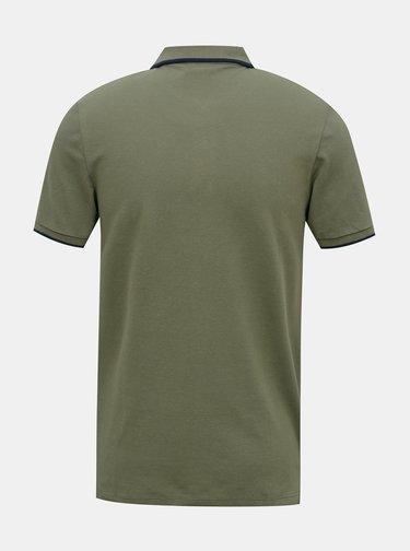 Khaki polo tričko Jack & Jones Shaker