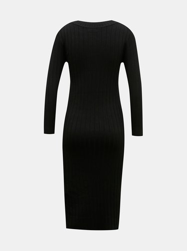 Čierne svetrové šaty Jacqueline de Yong Kate