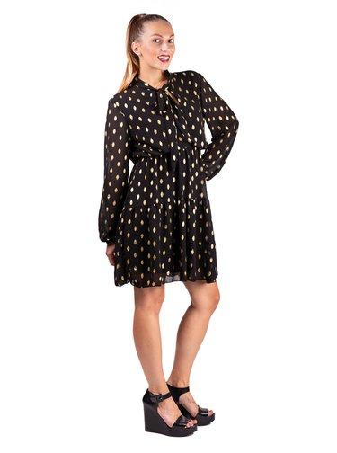Simpo černo-zlaté šaty Dots
