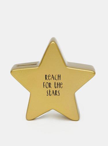 Kasička ve zlaté barvě ve tvaru hvězdy Sass & Belle