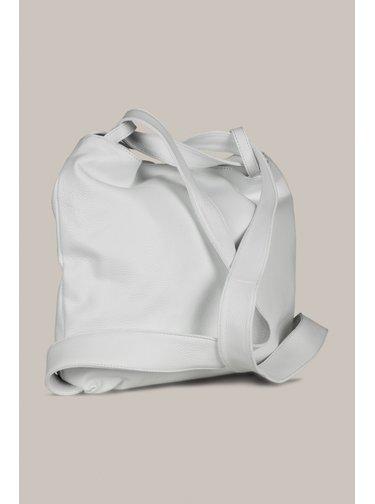 Kara bílá kožená multifunkční kabelka/batoh