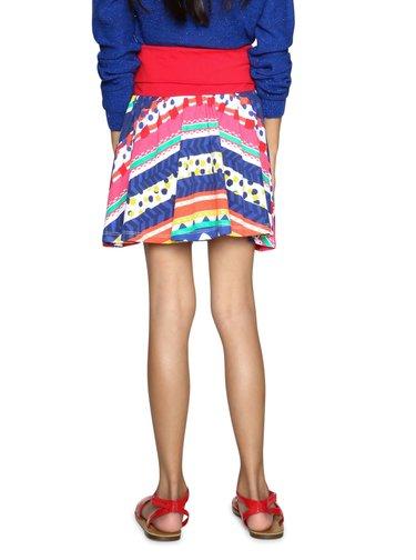 Desigual barevná dívčí sukně Rubi