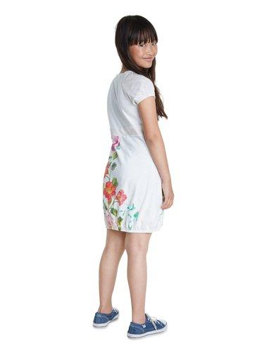 Desigual bílé dívčí šaty Vest Salamanca