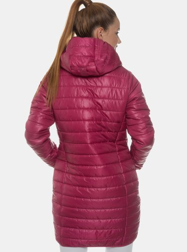 Růžový dámský prošívaný kabát SAM 73