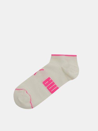 Sada dvou párů dámských kotníkových ponožek v bílé a béžové barvě  Puma