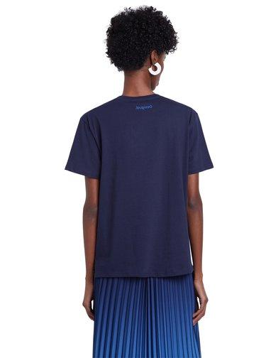 Desigual modré tričko TS Maine