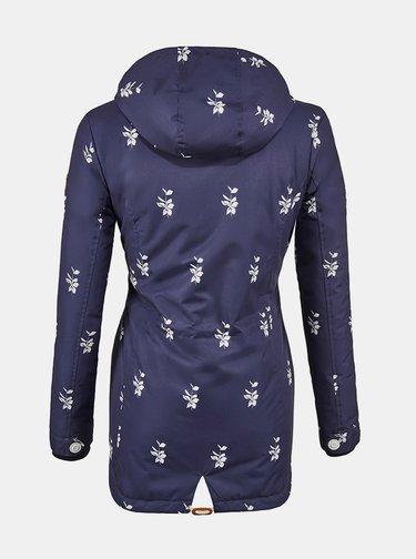 Tmavě modrá dámská zimní květovaná parka killtec