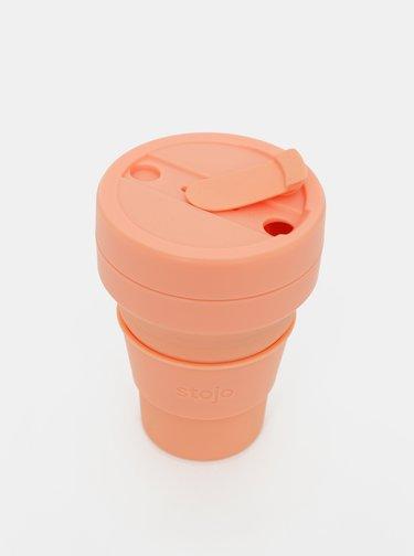 Ružový cestovný skladací hrnček Stojo Pocket 355 ml
