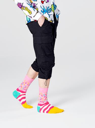 Růžové dámské ponožky Happy Socks Bday Sprinkles