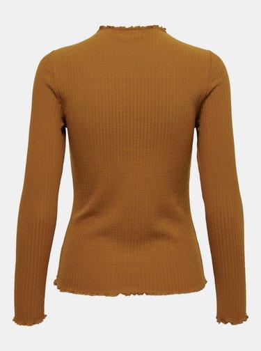 Hnedé dámské tričko ONLY