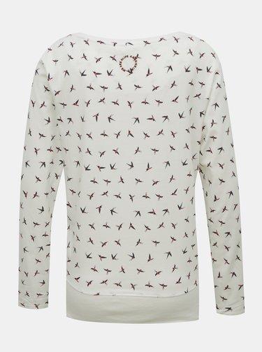 Krémové dámské vzorované tričko Alife and Kickin