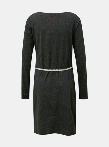 Šedé šaty s opaskom Alife and Kickin
