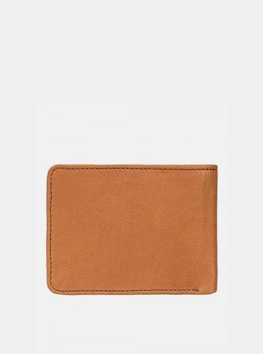 Svetlohnedá kožená peňaženka Quiksilver