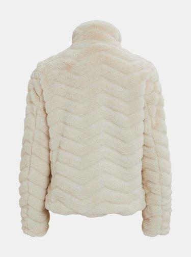 Krémová bunda z umelého kožúšku VILA Aliba