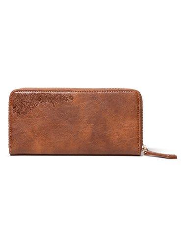Desigual hnědá peněženka Mone Martini Zip Around