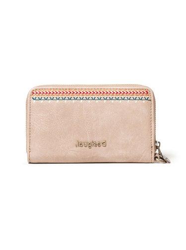 Desigual béžová peněženka Mone Astoria Mini Zip