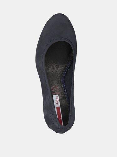 Pantofi cu toc pentru femei s.Oliver - albastru inchis