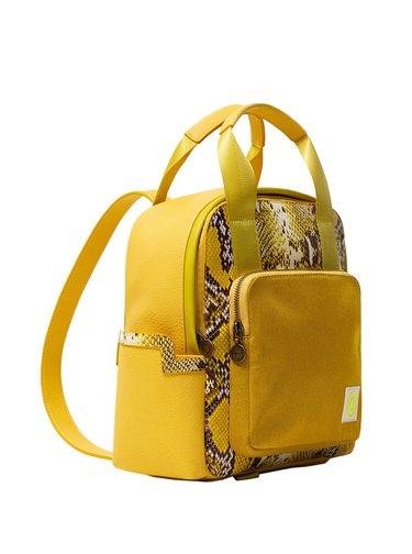 Desigual žlutý batoh Back Talisman Randers Mini