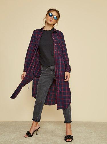Rochii tip camasa pentru femei ZOOT - albastru inchis