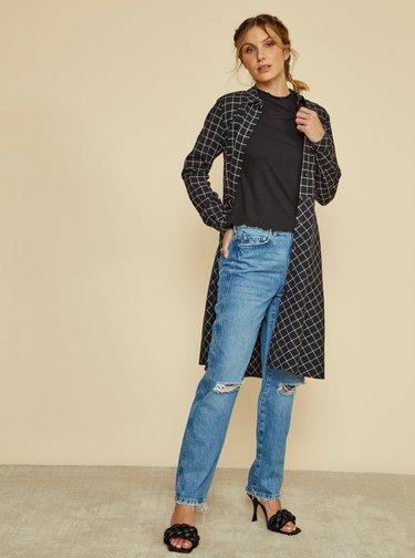 Černé kostkované košilové šaty ZOOT Colly