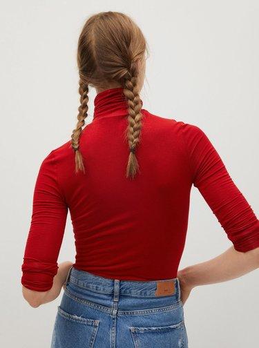 Červené tričko s rolákem Mango
