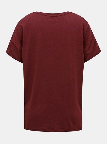 Vínové volné tričko Noisy May Command