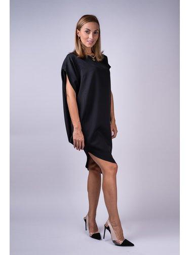 Simpo černé asymetrické šaty Storm bez pásku