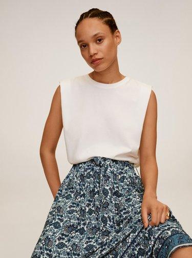 Modrá vzorovaná maxi sukně Mango