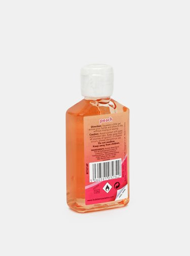 Antibakteriální gel na ruce (70% alkoholu) Bubble T Cosmetics Peach 50 ml