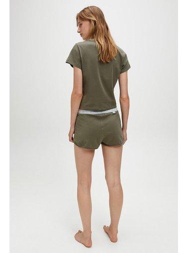 Calvin Klein khaki pyžamo S/S Short set