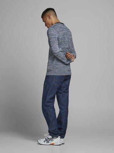 Modrý žíhaný sveter Jack & Jones Orwoods