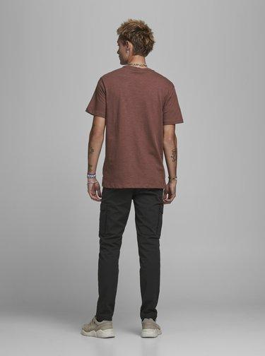 Hnedé tričko Jack & Jones Prbladean