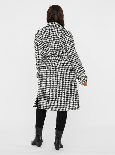 Černo-bílý vzorovaný kabát VERO MODA CURVE Aria