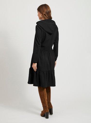 Čierne mikinové šaty s kapucou .OBJECT Pilar
