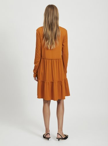 Oranžové voľné šaty VILA Sheeran