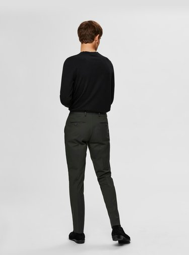 Černý basic svetr Selected Homme Berg