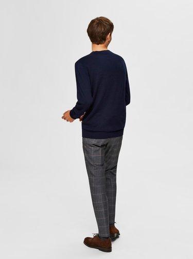 Tmavomodrý basic sveter Selected Homme Berg
