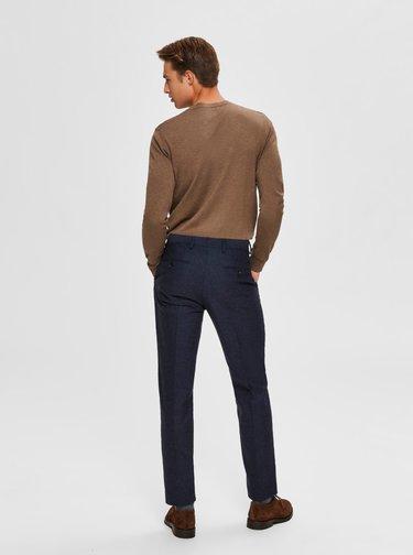 Hnědý basic svetr Selected Homme Berg