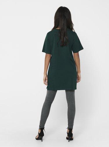 Tmavě zelené oversize tričko Jacqueline de Yong Kris