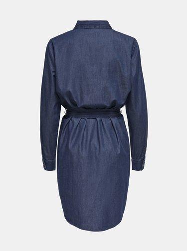 Tmavomodré košeľové šaty Jacqueline de Yong Esran