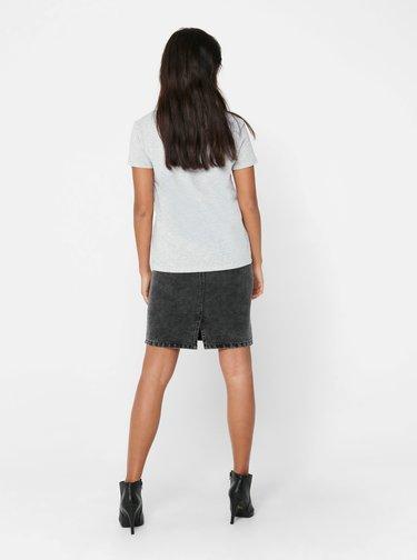 Šedé tričko Jacqueline de Yong Cute
