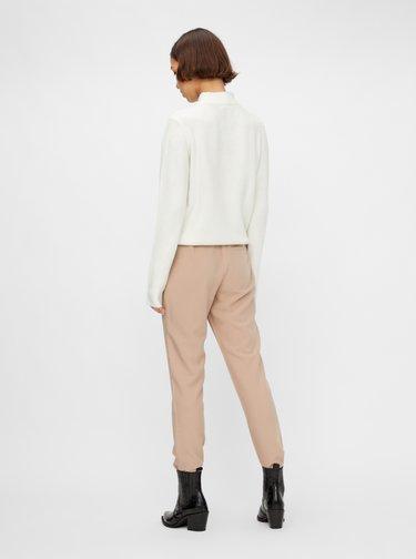 Bílý basic svetr Pieces Bianca