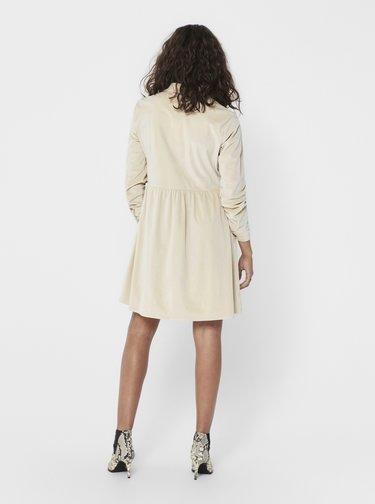 Krémové šaty Jacqueline de Yong Sofi
