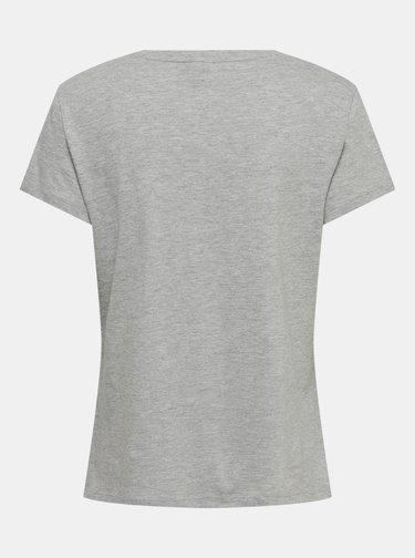 Šedé tričko Jacqueline de Yong Brenda