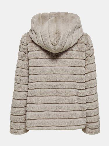 Béžová bunda s umělým kožíškem Jacqueline de Yong Emily