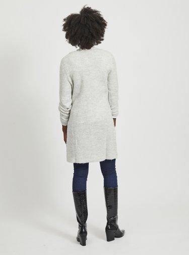 Světle šedé svetrové šaty VILA Suril