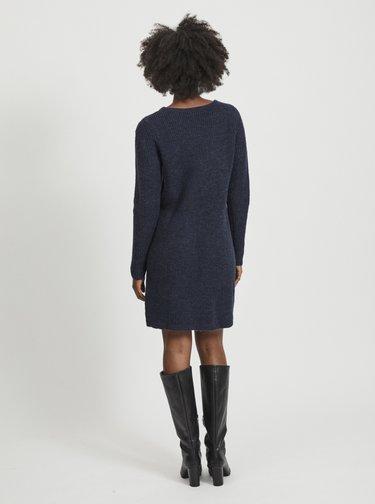 Tmavě modré svetrové šaty VILA Suril