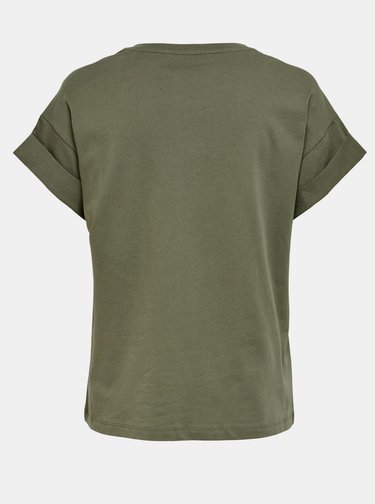 Khaki basic tričko ONLY Silla