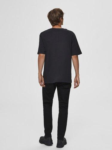 Černé basic tričko Selected Homme Malcolm