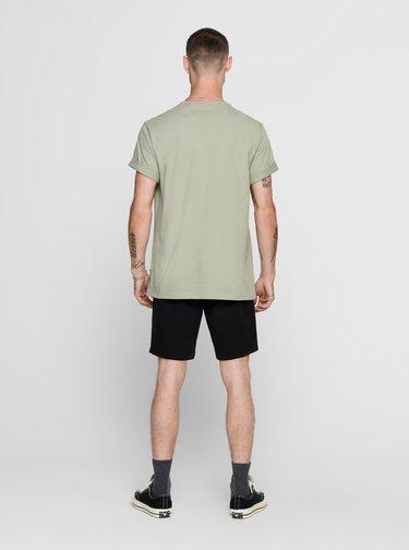 Svetlozelené tričko s potlačou ONLY & SONS Funno